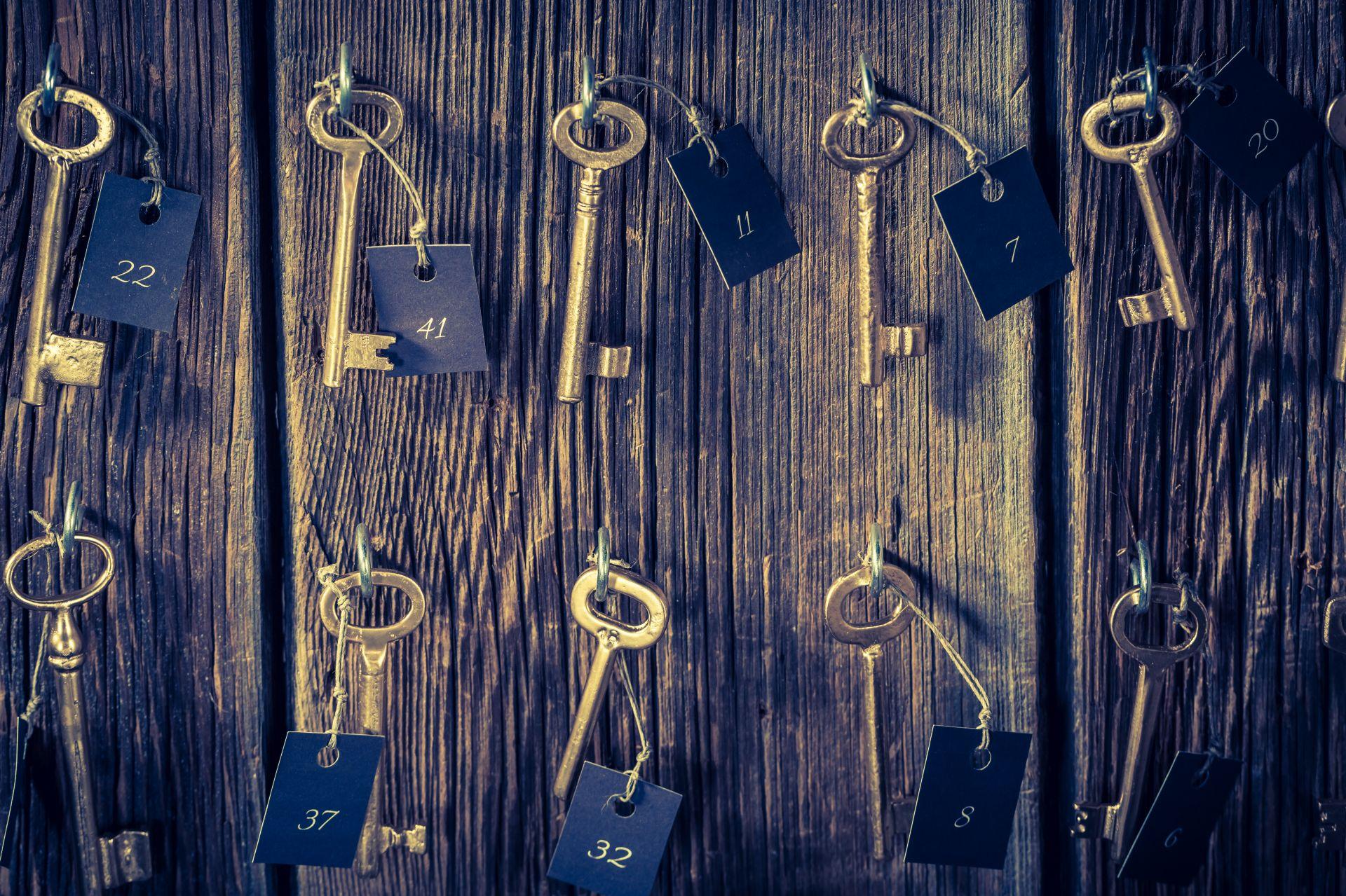 Klíče v hostelu