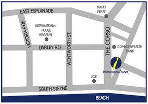 kancelář na Manly mapa