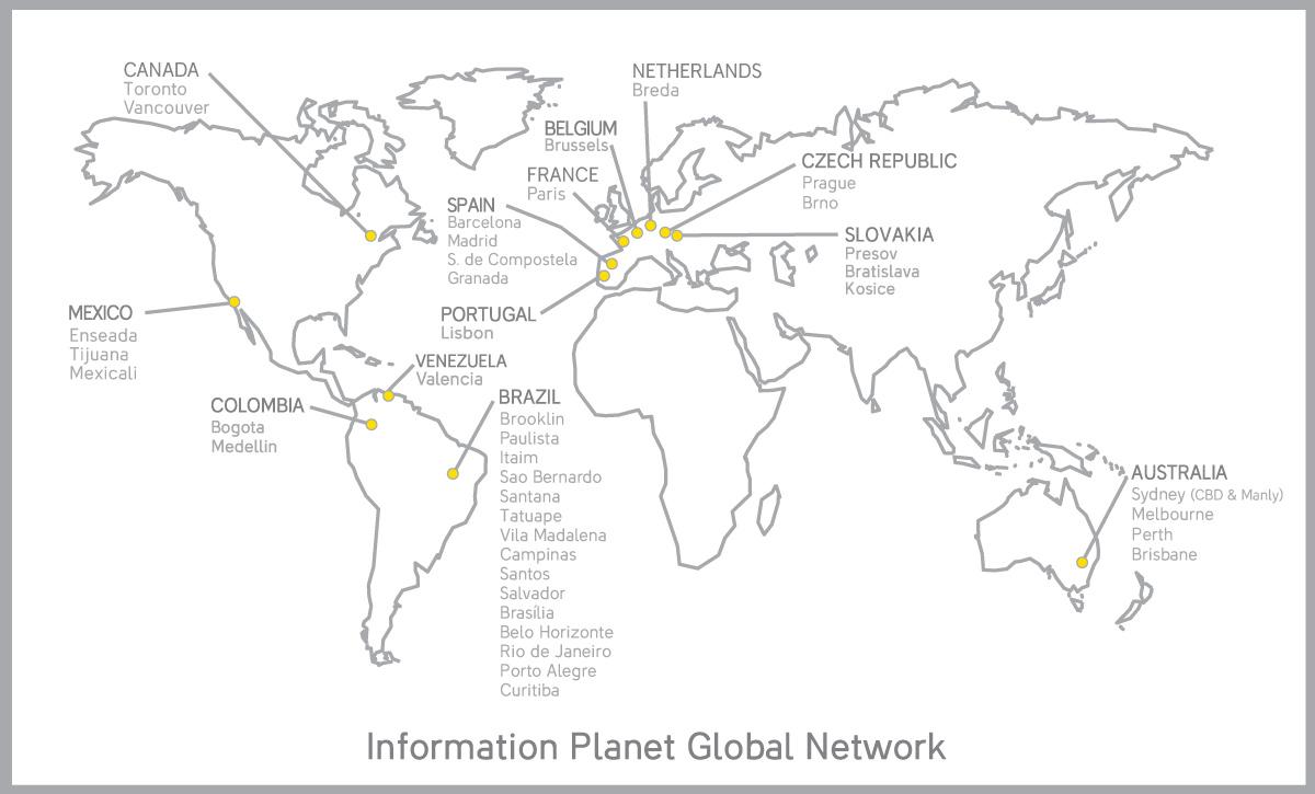 Kanceláře Information Planet ve světě